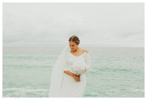 Beautiful bride wearing Laure de Vitton