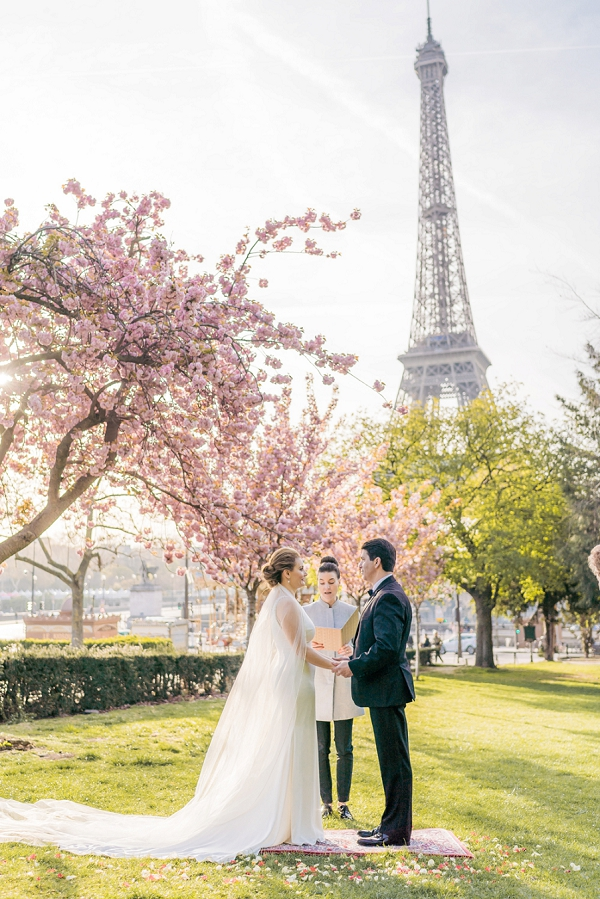 Blossom Elopement in Paris