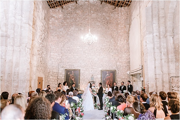 Ceremony in an old church