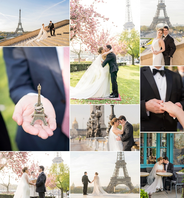 Cherry Blossom Elopement in Paris Snapshot