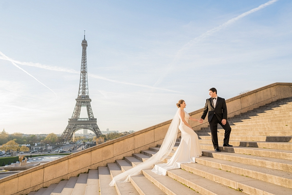 Cherry Blossom Elopement in Paris