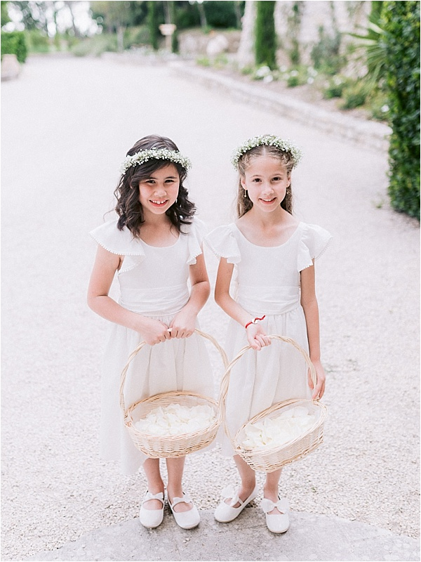 Cute little flowergirls
