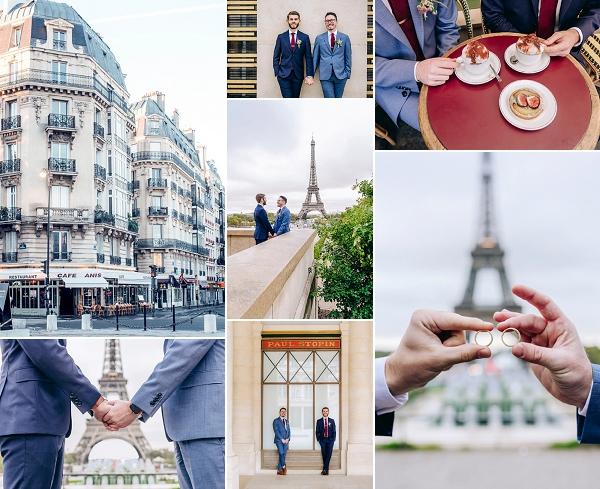 Intimate wedding in Paris Snapshot