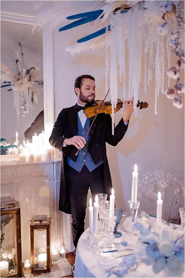 Musician in aciton