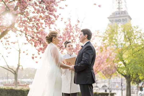 Outdoor Blossom Elopement in Paris