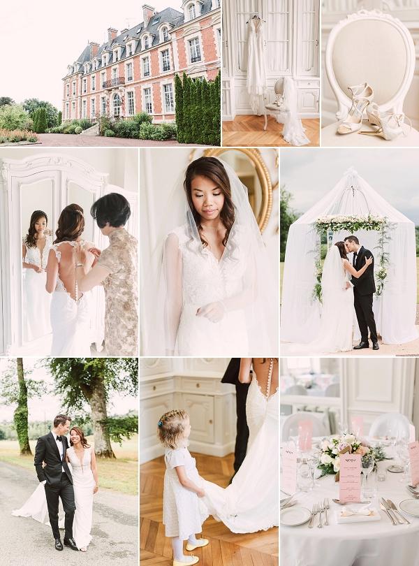 Romantic Chateau De La Cazine wedding snapshot
