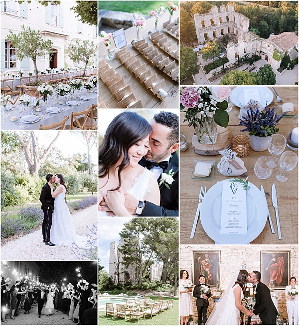 South of France wedding at Chateau De Grimaldi Snapshot
