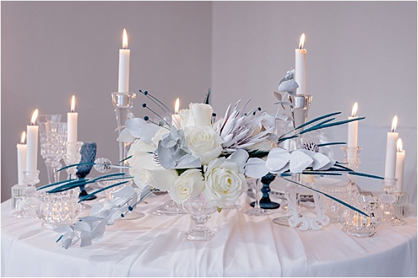 White Chique Tablesetting