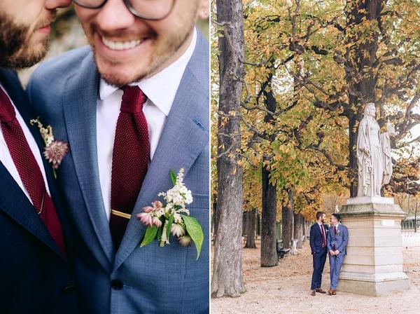 autumn wedding photos in paris
