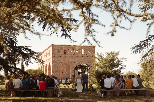 autumnal outdoor wedding in South West France