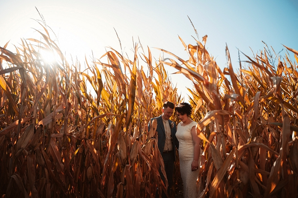 autumnal wedding in South West France
