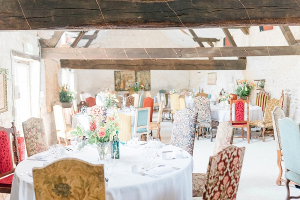 indoor shabby chic wedding breakfast