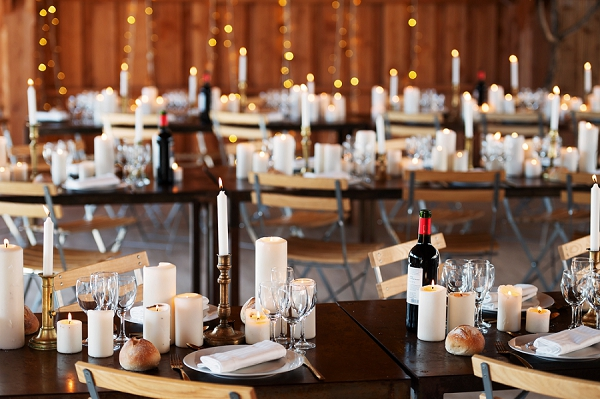 indoor wedding breakfast decor