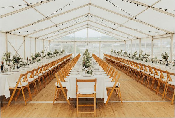 marquee wedding styling tablescape