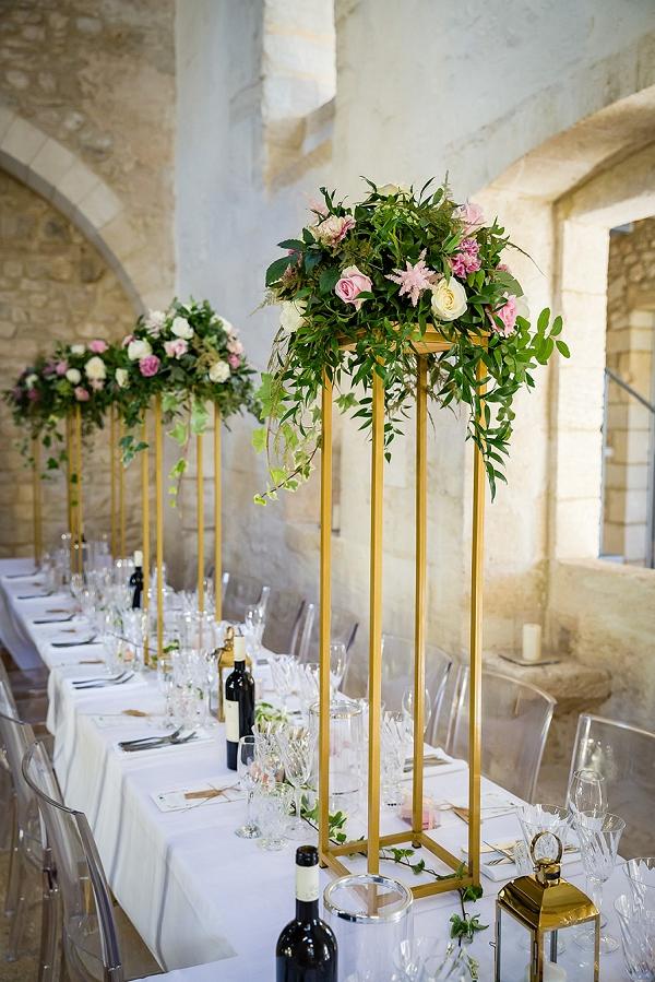 modern french wedding styling