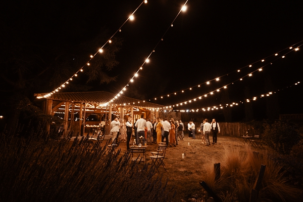 outdoor wedding evening