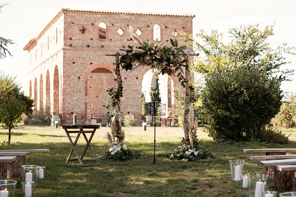 outdoor wedding in South West France