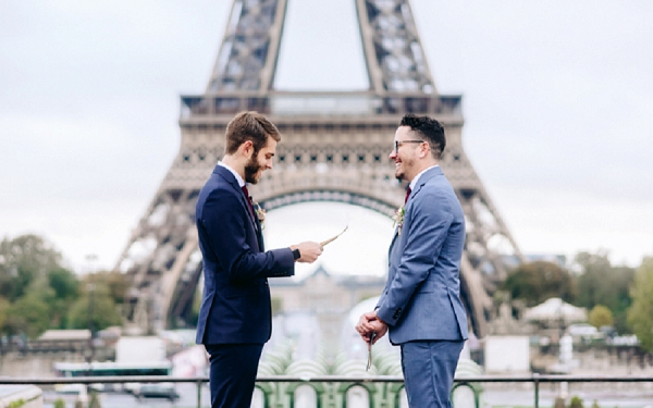 same sex wedding in Paris