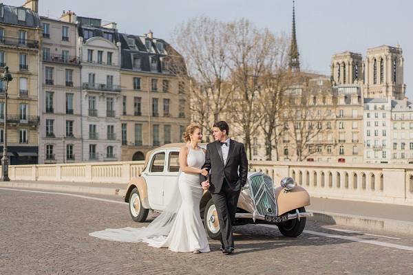 vintage wedding car Paris