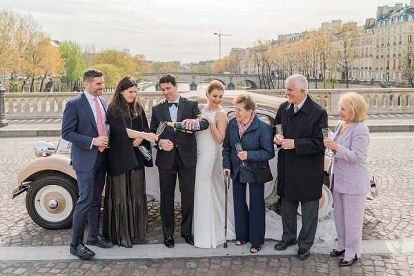 wedding champagne toast Paris