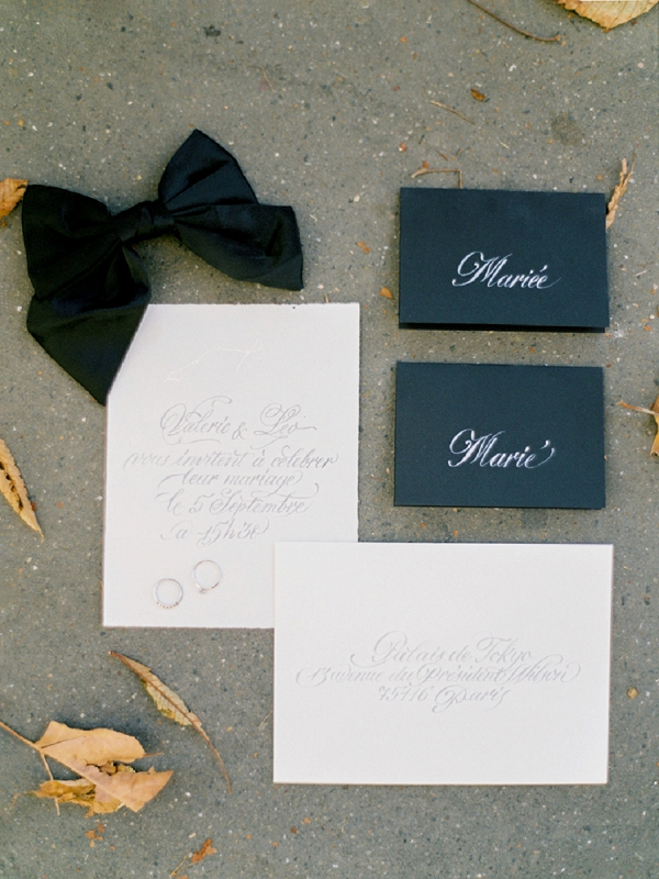 Coco Chanel Wedding Inspiration stationery