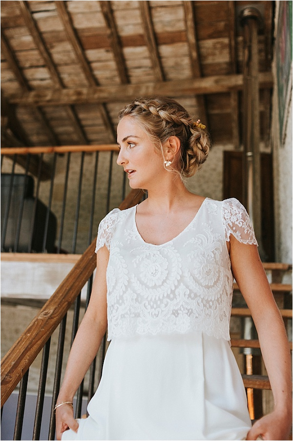 Wedding dress by Laure de Sagazan