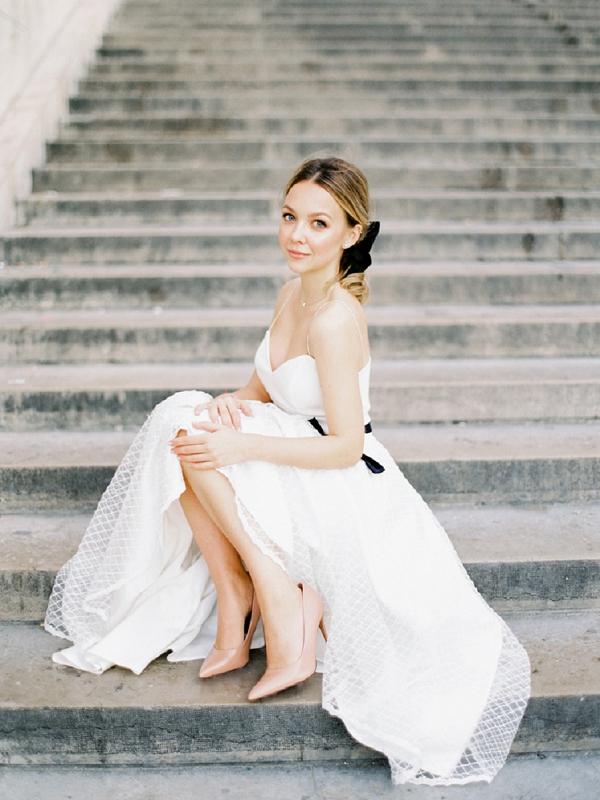bride in Paris