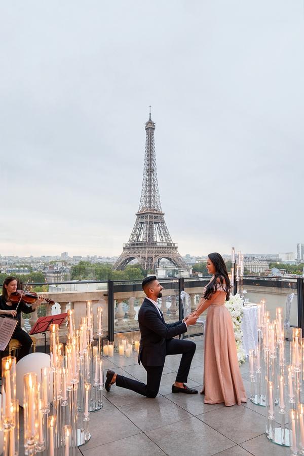 candle lit Paris Proposal