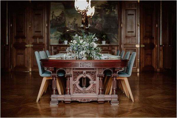 chic French style wedding table design