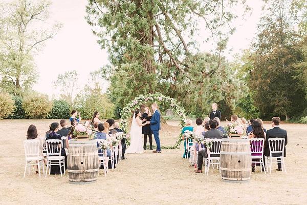 outdoor micro wedding ceremony