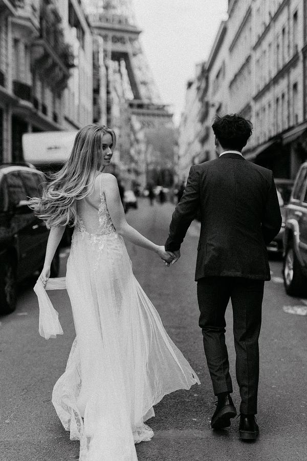 parisian streets wedding photos