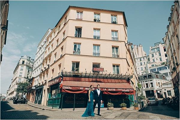 Downtown Paris Engagement Shoot