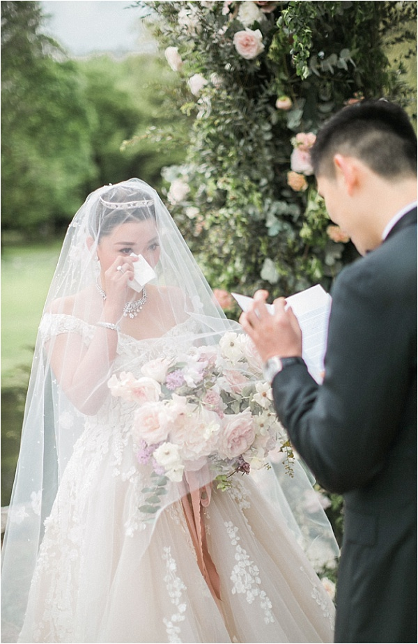 Exhanging beautiful vows