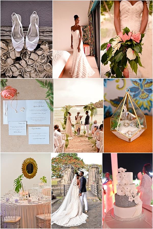 Guadeloupe Beach Wedding Snapshot