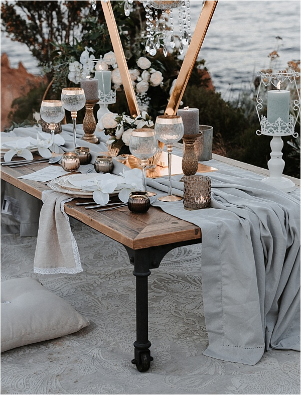 Luxury French Riviera Tablesetting