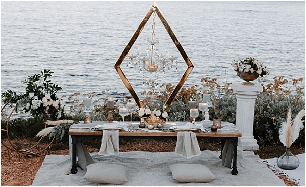 Mediterranian View Tablescape