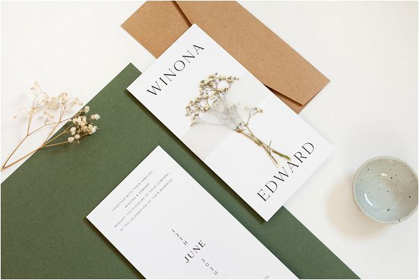 Mirage earth tones wedding stationery