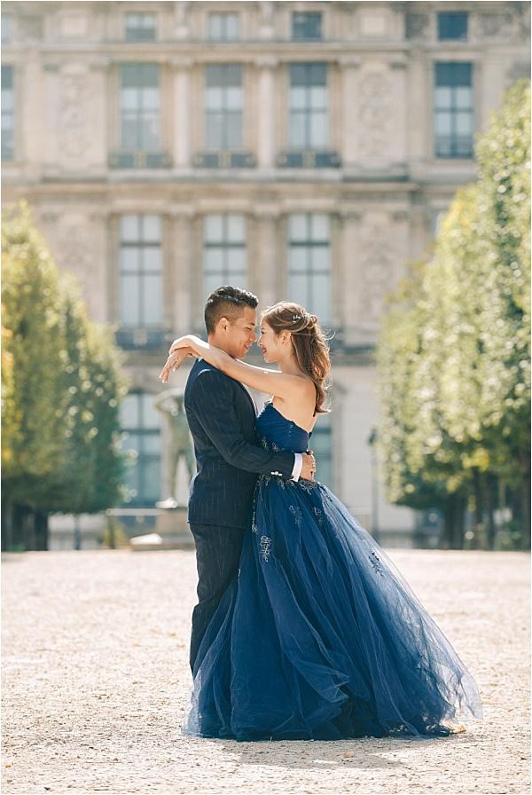 Paris Jardin Engagement Shoot