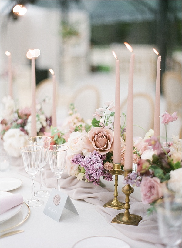 Pink theme tablesetting