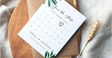 olive inspired wedding stationery