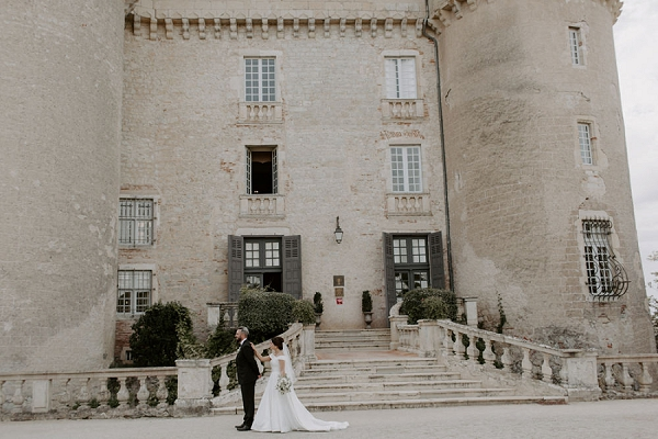 romantic first look french chateau