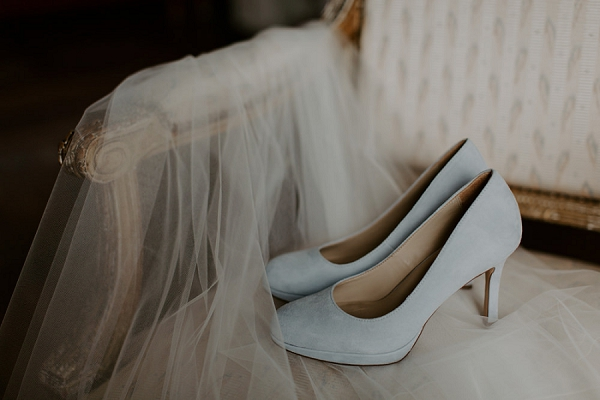 something blue wedding shoes