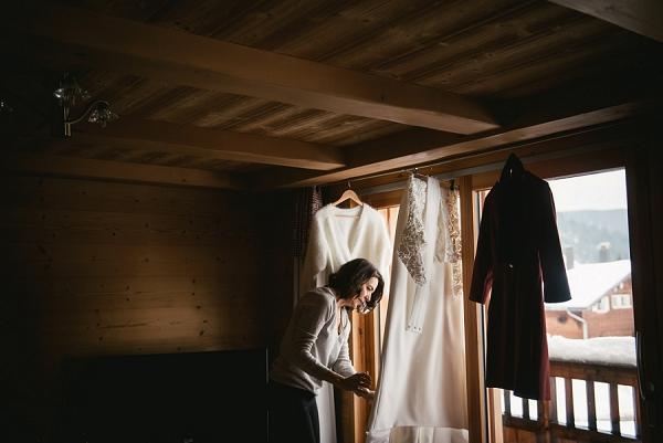 wedding morning french alps