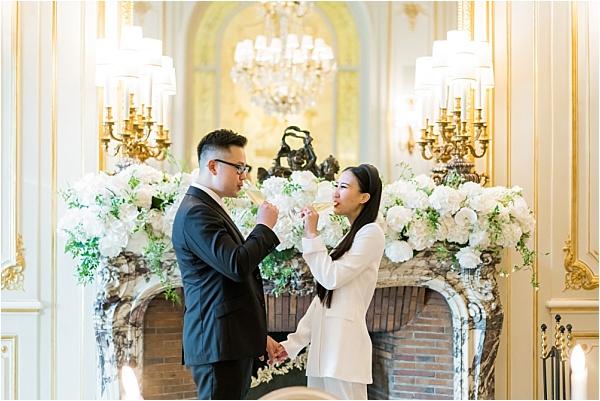 Celebrating their marriage