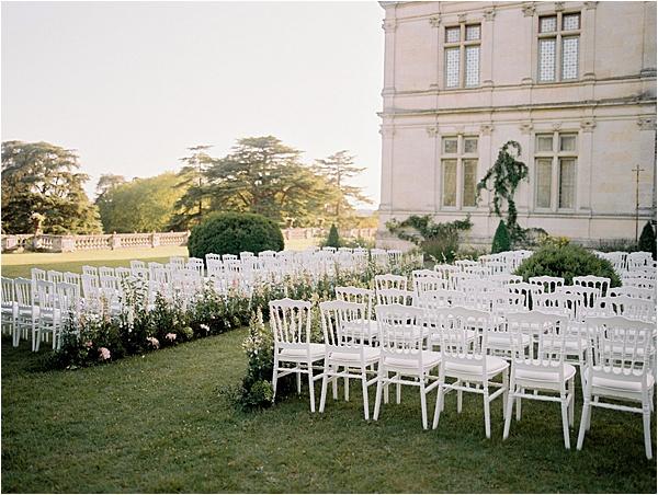 Château de la Bourdaisière Ceremony Setup