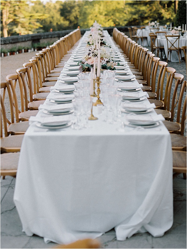 Dream Chateau wedding lunch setup