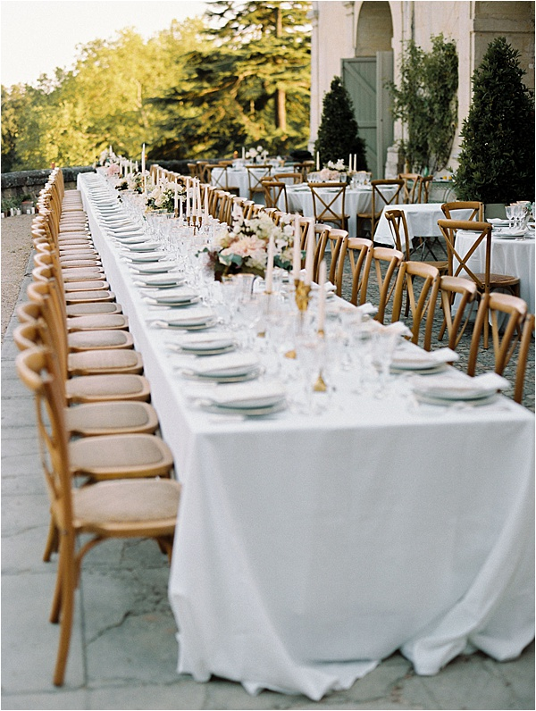 Dream wedding lunch setup