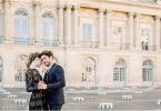 Old World Glam Engagement Session in Paris