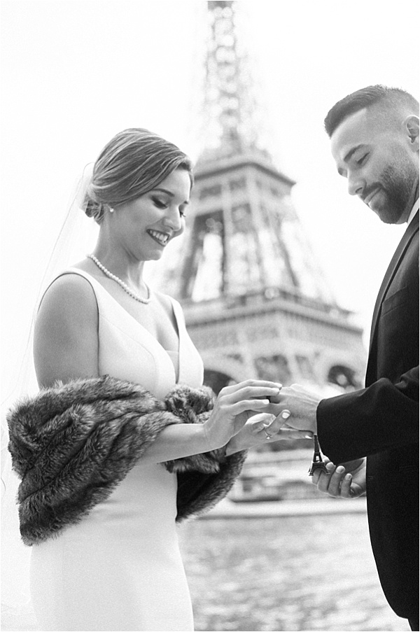 Exchanging rings at the eiffel tower