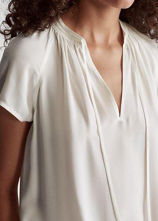 Silk Georgette Necktie Blouse